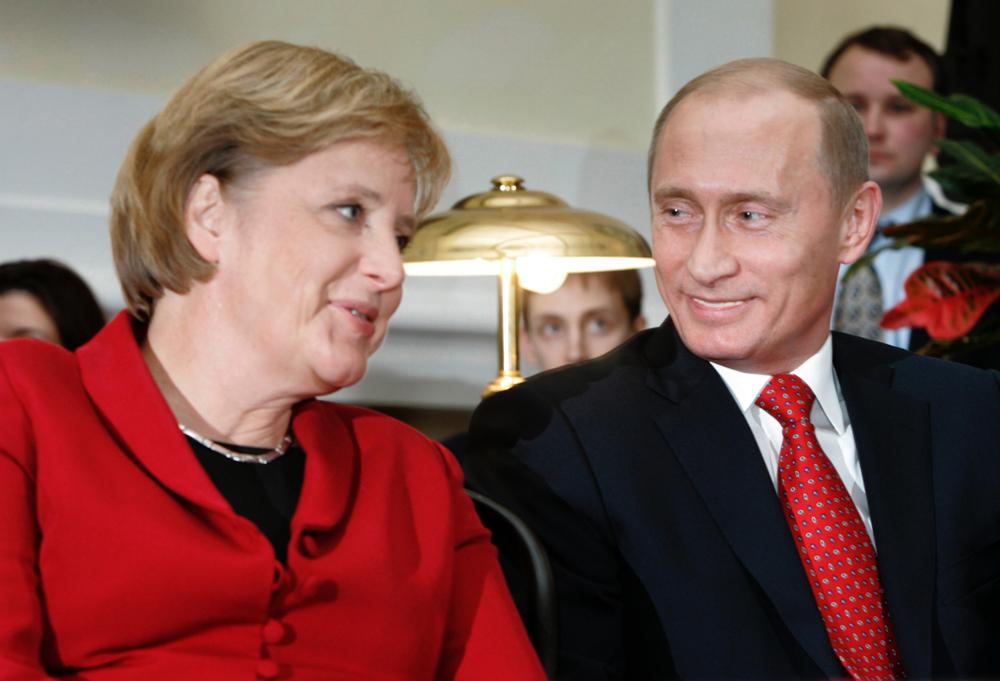 Ангела Меркель и Владимир Путин, 2006 г.