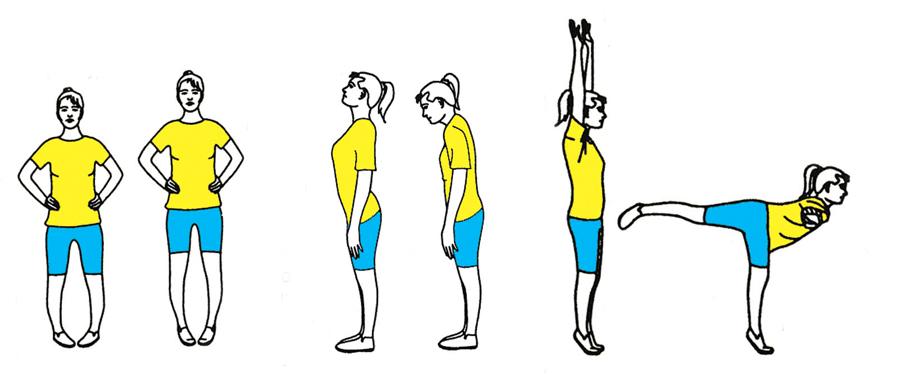 Гимнастика для вен: Упражнения стоя