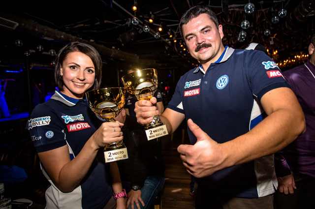Серебро монокубка VW VW POLO CUP на ралли «Cupper Псков-2016» у экипажа Юрия Урюкова и Юлии Шатохиной.