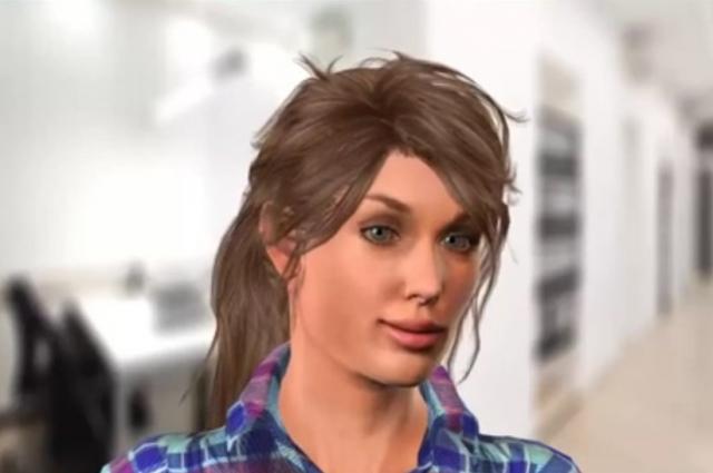 Виртуальный робот Вера проводит собеседование при приеме на работу.