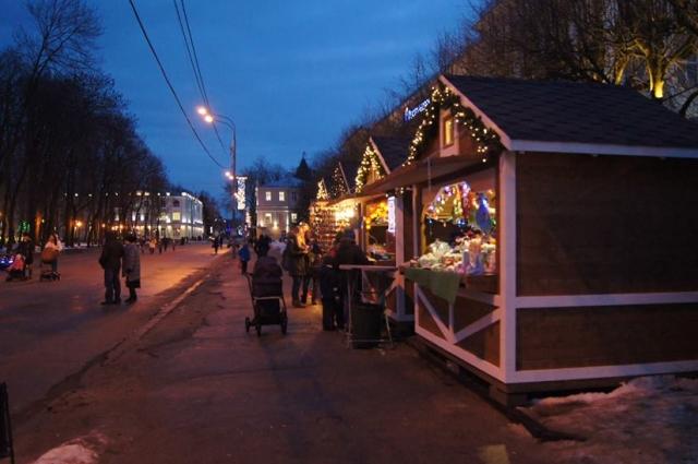 Рождественская ярмарка в центре Смоленска.