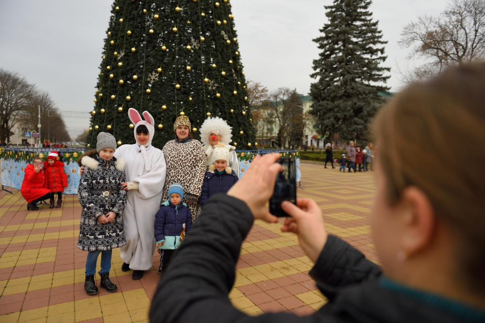 открытие елки, Майкоп, новый год в Майкопе