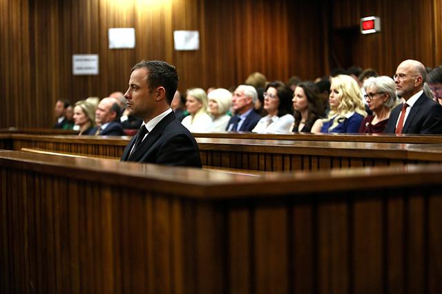 Оскар Писториус на судебном заседании