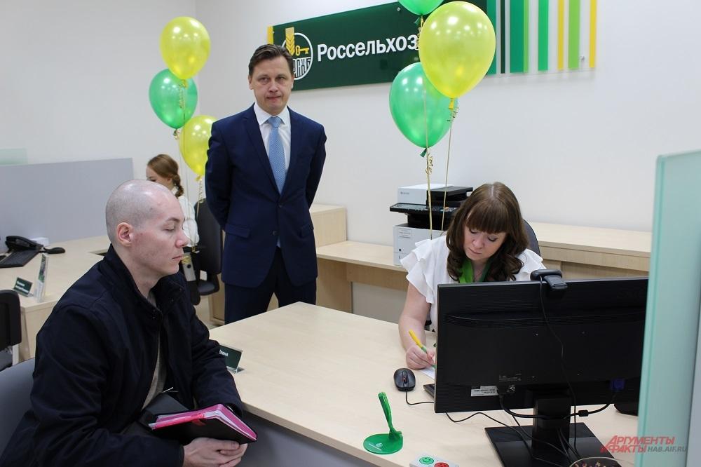 Офис начал принимать клиентов ещё до церемонии открытия