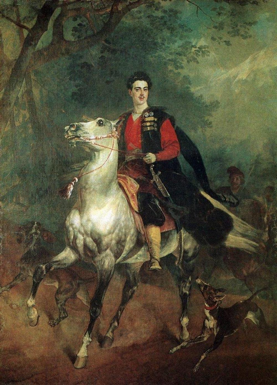 Карл Брюллов. Портрет А.Н. Демидова Сан-Донато (1831).
