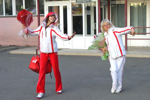 Серебряный призер Олимпиады-2012, иркутянка Дарья Дмитриева и ее тренер Ольга Буянова