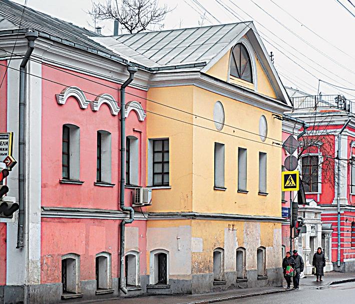 Разноцветная Усадьба князя Голицына на Старой Басманной улице