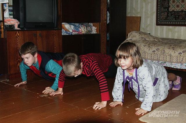 Здоровому образу жизни и спорту в семье уделяется особое внимание