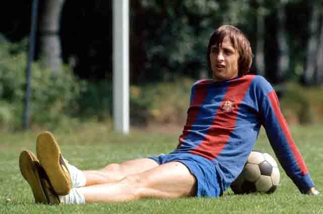 Йохан Кройф в составе «Барселоны».