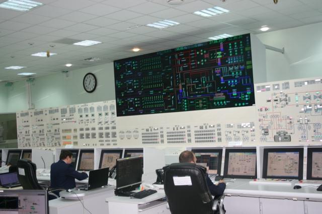 Все процессы на энергоблоке контролируются из единого пункта.