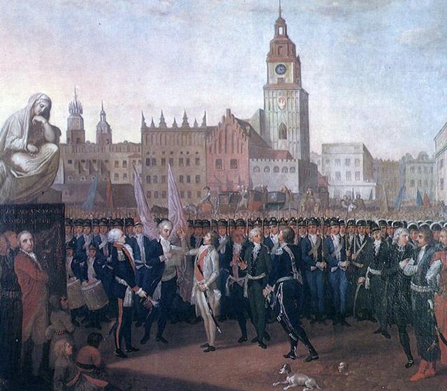 Франциск Смуглевич. Присяга Тадеуша Костюшко на краковском рынке, 1797. Национальный музей, Познань