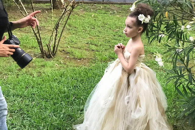 До участия в конкурсе малышка никогда не занималась моделингом.