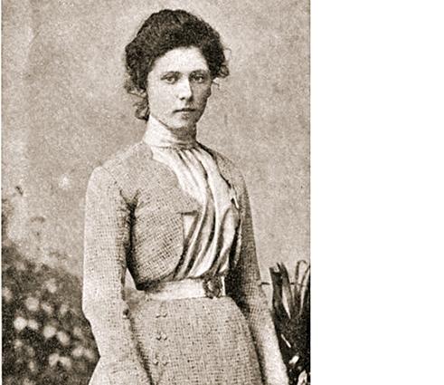 Мария Спиридонова в юности.