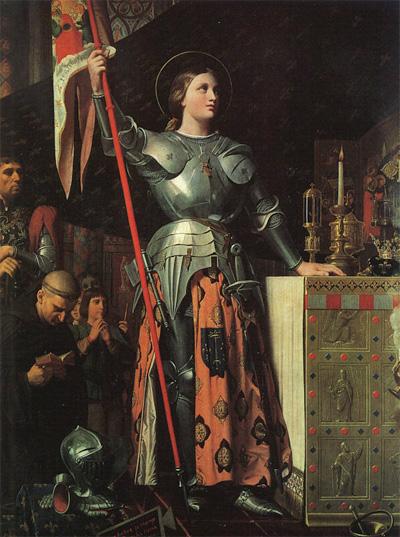 Жанна д Арк на коронации Карла VII. Жан Огюст Доминик Энгр, 1854