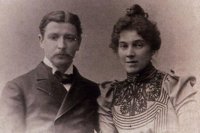 М.А. Врубель и его жена Н.И. Забела. Фото 1896 года.