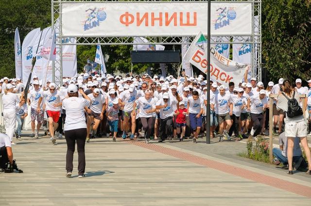 Дистанция была организована на Михайловской набережной.