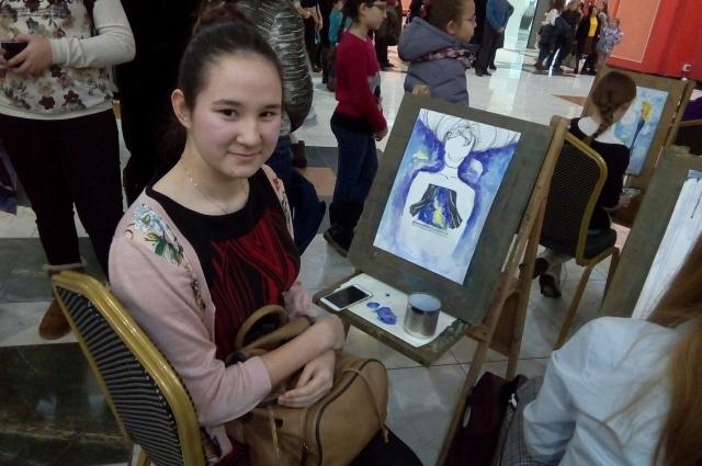 Камилла Жандулина изобразила внутренний мир человека.