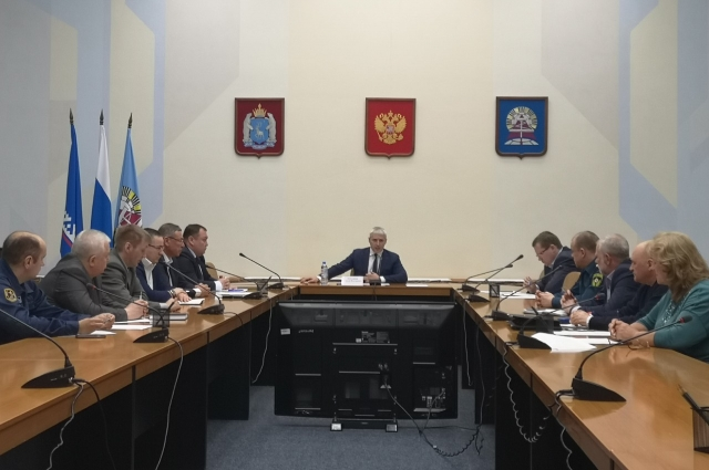 Заседание комиссии по ЧС, Ноябрьск.