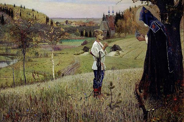 Видение отроку Варфоломею (Нестеров М.В., 1890, Государственная Третьяковская галерея)