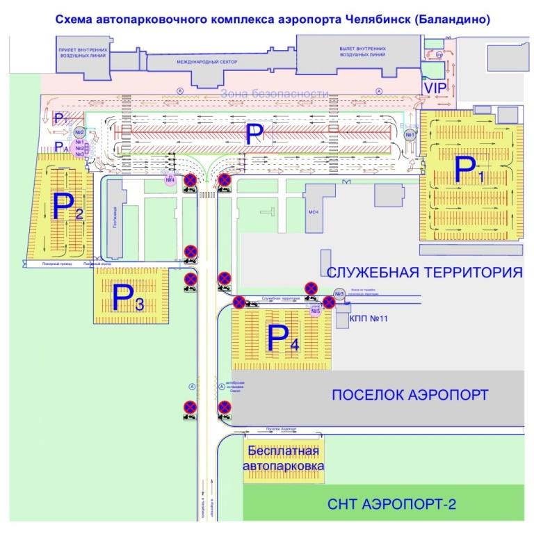 Схема парковки аэропорта. По словам челябинца, его машина стояла в верхнем левом углу.
