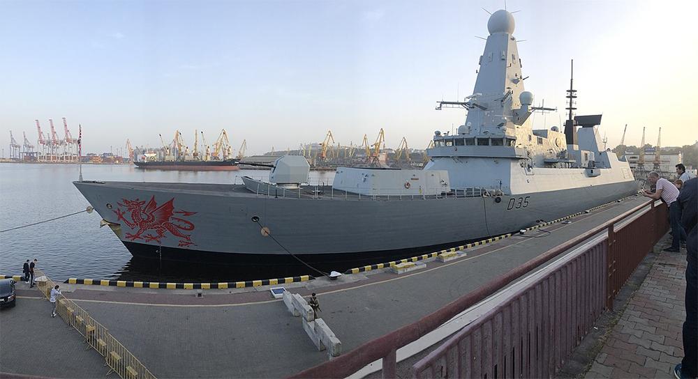 HMS Dragon в Одесском порту. 2020 год.