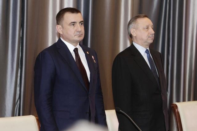 Алексей Дюмин и Александр Беглов.