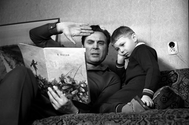 Евгений Матвеев с сыном.