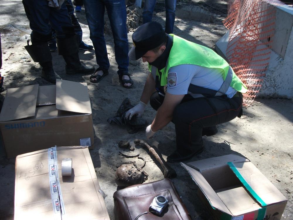 Криминалисты изъяли человеческие останки