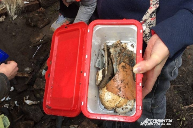 Все найденные черепки археологи будут исследовать.