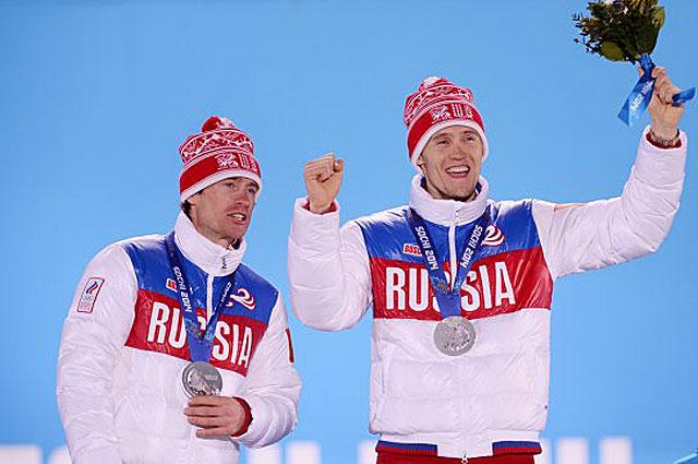 Максим Вылегжанин и Никита Крюков серебряные медалисты в командном спринте