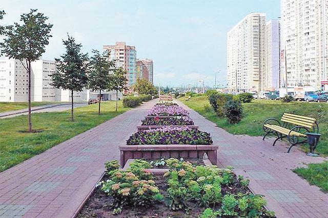 В рамках программы «Мой район» вКуркине сажают тюльпаны, анютины глазки, бегонии иканны.