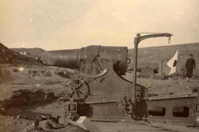 11-дюймовая мортира, использовавшаяся при осаде Порт-Артура