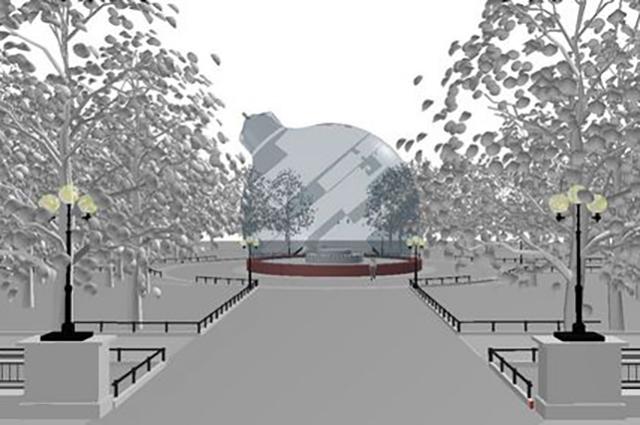 На месте фонтана установят гигантский светодиодный шар.