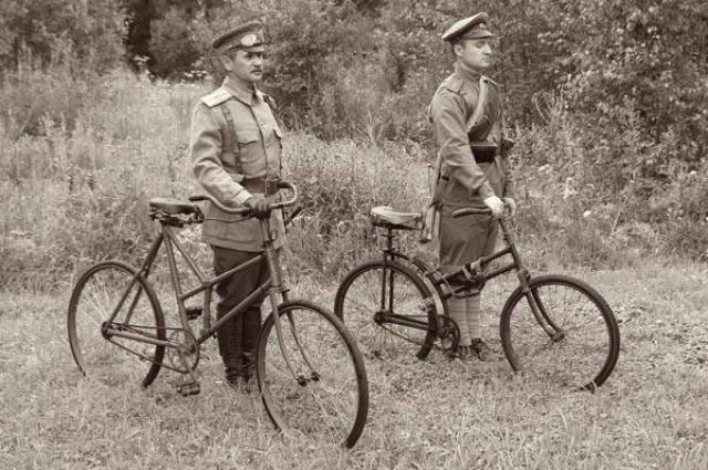 Самокатные роты считались элитой царской армии.