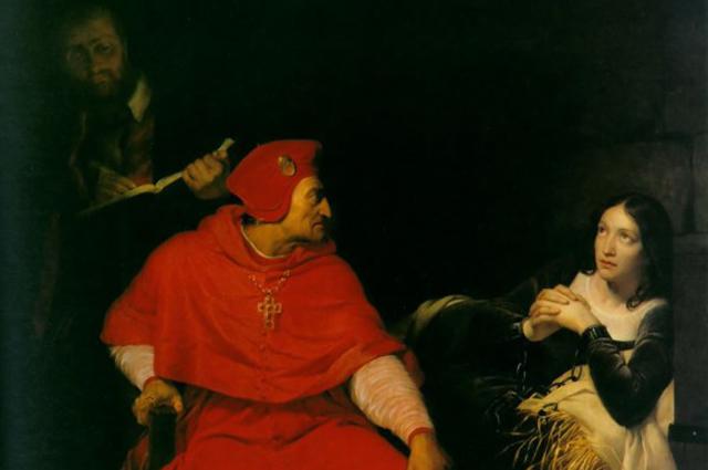 Допрос Жанны кардиналом Винчестера (Поль Деларош, 1824 год).