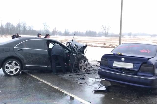 Автомобиль «Мерседес» двигался в сторону Нестерова.