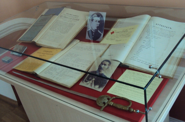 Часть экспозиции Центра изучения истории Гражданской войны, посвящённая Лавру Корнилову.