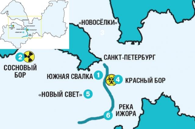 Горячие точки Петербурга и Ленинградской области