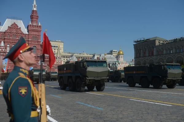 Бронеавтомобили повышенной защищенности Тайфун на военном параде