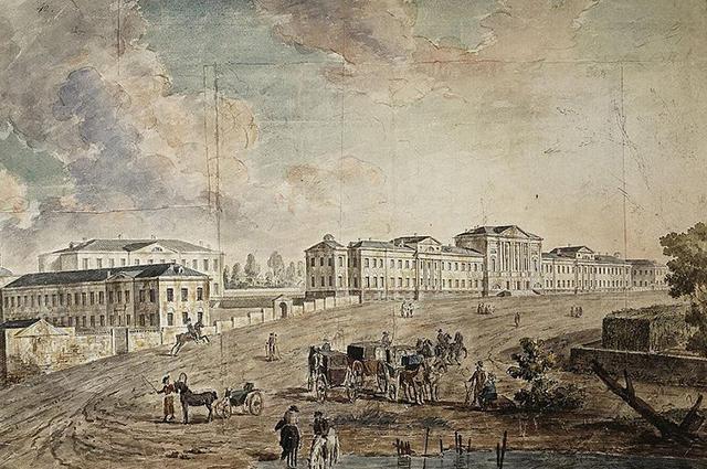 Военный госпиталь в Лефортово, начало XIX века