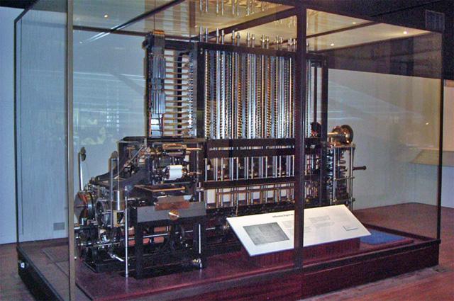 Копия разностной машины в лондонском Музее науки.