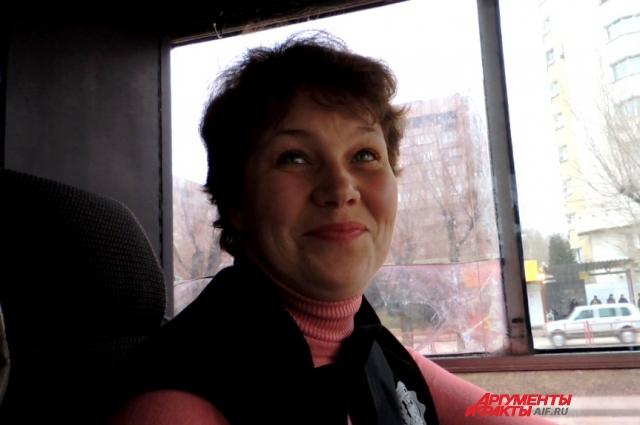 Светлана Иовенко работает на маршруте № 15 недавно.