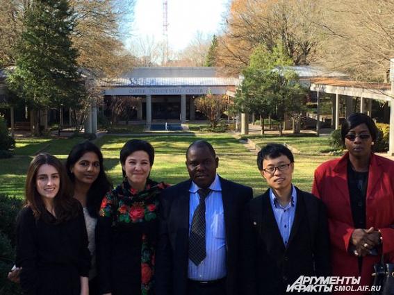 В Центре Джимми Картера в Атланте мы стали гостями  отчетного мероприятия благотворительного фонда и увидели самого бывшего президента.