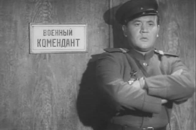 Борис Андреев в фильме «Встреча наЭльбе» (1949)