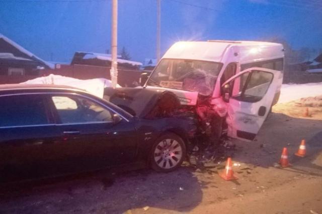 В ДТП погиб пассажир маршрутки.