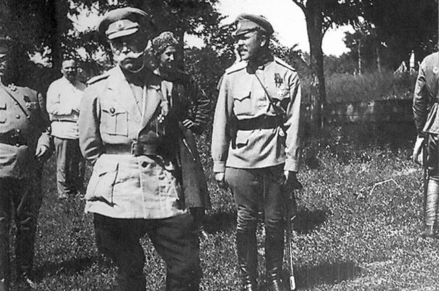 Верховный руководитель Добровольческой армии М. В. Алексеев незадолго до смерти (1918)