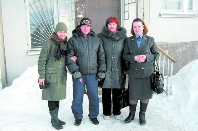 Юлия Слободян с коллегами