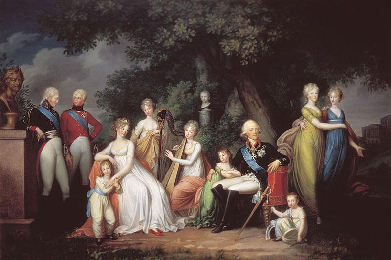 Портрет Павла I с семьёй, 1800 год