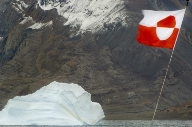 Флаг Гренландии.