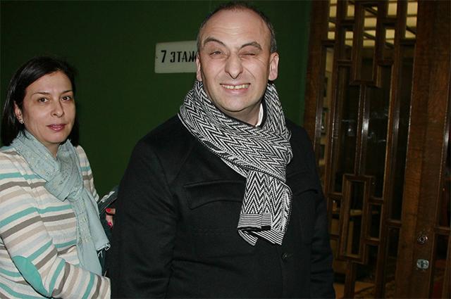 Президент ЗАО «Интеко» Олег Солощанский с супругой. 2012 год.